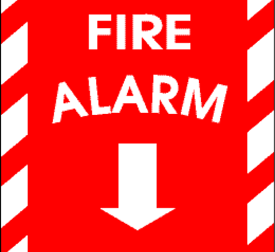 LET'S NOT PULL FIRE ALARMS FOR 20-YEAR OLD FIRES